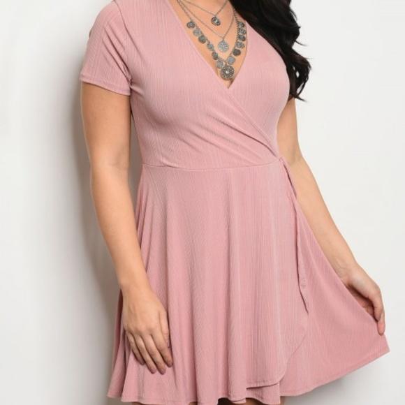 Figure Flattering Blush Plus size Dress